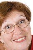 2高级微笑的妇女 免版税库存照片