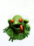 2黏土青蛙 免版税库存照片