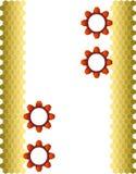 2齿轮六角形 免版税库存照片