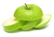2 äpple - green royaltyfria bilder