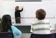 2 étudiants et professeurs Photos stock