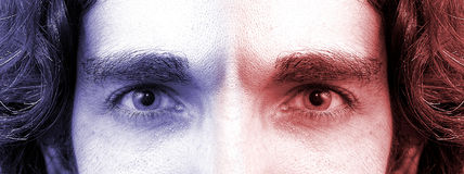 2 ögon royaltyfri bild
