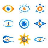 2 ögonsymboler stock illustrationer
