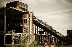 2 övergav industriellt Arkivbild