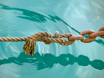 2 łańcuszkowa liny Zdjęcia Stock