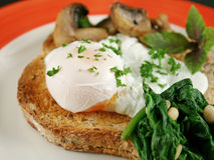 2 śniadań jajko kłusujący Obraz Royalty Free