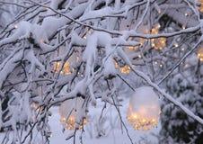 2 świąteczne lampki Zdjęcie Stock