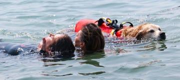 2 świderów ratownicza woda obraz royalty free