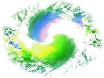 2 świeżego szczotkarskiego farby splatters Zdjęcia Stock
