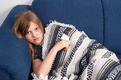 2 άρρωστοι κοριτσιών Στοκ εικόνα με δικαίωμα ελεύθερης χρήσης