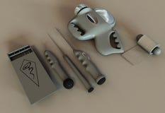 2 αλλοδαπά εργαλεία απα&gam Στοκ εικόνες με δικαίωμα ελεύθερης χρήσης
