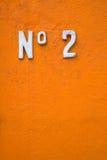 2 αριθμός Στοκ Φωτογραφία