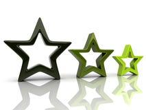 2 αστέρια τρία Στοκ φωτογραφίες με δικαίωμα ελεύθερης χρήσης