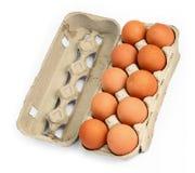 2 αυγά δέκα κιβωτίων Στοκ Φωτογραφίες