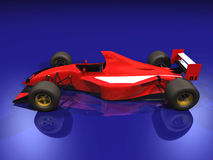 2 αυτοκίνητο f1 που συναγωνίζεται την κόκκινη ένταση Στοκ εικόνα με δικαίωμα ελεύθερης χρήσης