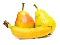 2 αχλάδια μπανανών Στοκ φωτογραφίες με δικαίωμα ελεύθερης χρήσης