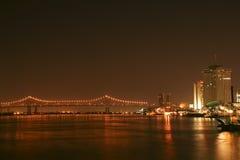 2 γέφυρα μεγαλύτερη Νέα Ορ&lamb Στοκ φωτογραφία με δικαίωμα ελεύθερης χρήσης