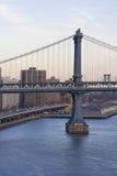 2 γέφυρα Μπρούκλιν Μανχάτταν Στοκ Φωτογραφίες