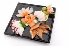 2 γίνοντα πιάτο sashimi Στοκ φωτογραφία με δικαίωμα ελεύθερης χρήσης