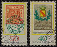 2 γερμανικά γραμματόσημα τ&omicron Στοκ Εικόνα