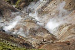 2 γεωθερμικά κανένας ατμός Στοκ εικόνα με δικαίωμα ελεύθερης χρήσης