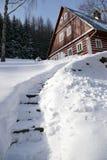 2 γιγαντιαία βουνά wintertime Στοκ εικόνα με δικαίωμα ελεύθερης χρήσης