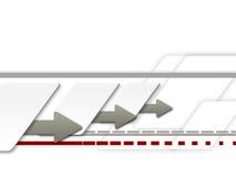 2 γραμμές β βελών διανυσματική απεικόνιση