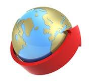 2 γύρω από τη γη διανυσματική απεικόνιση