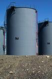 2 δεξαμενές πετρελαίου Στοκ φωτογραφία με δικαίωμα ελεύθερης χρήσης