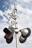 2 διαδρομές σημαδιών σιδηροδρόμου Στοκ Φωτογραφία