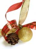2 διακοσμήσεις Χριστουγέννων Στοκ Εικόνες