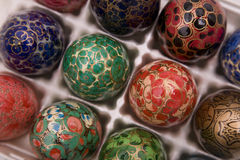 2 διακοσμητικά αυγά Στοκ Φωτογραφίες
