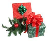 2 δώρα Χριστουγέννων Στοκ Φωτογραφία