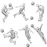 2 εικονίδια ποδοσφαίρο&upsilon ελεύθερη απεικόνιση δικαιώματος