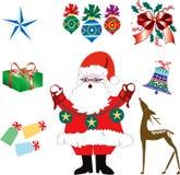 2 εικονίδια Χριστουγέννω&n Στοκ εικόνες με δικαίωμα ελεύθερης χρήσης