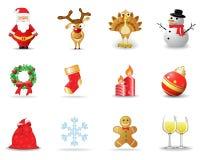 2 εικονίδια Χριστουγέννω&n απεικόνιση αποθεμάτων