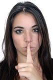 2 ελκυστικός ήρεμος μυστικοπαθής brunette Στοκ Εικόνα