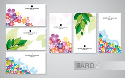 2 επαγγελματικές κάρτες Στοκ Φωτογραφία