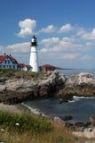 2 επικεφαλής ελαφρύ Maine Πόρτλαντ Στοκ Φωτογραφίες