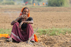 2 εργασία υπαίθριου Ινδία Στοκ εικόνα με δικαίωμα ελεύθερης χρήσης