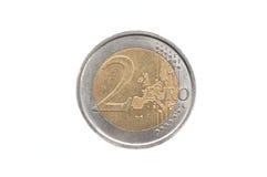 2 ευρώ νομισμάτων Στοκ Εικόνες