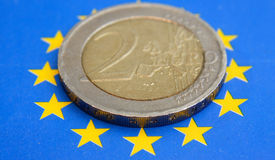 2 ευρώ Στοκ Φωτογραφίες