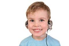 2 ευτυχή ακουστικά αγορ&i Στοκ Φωτογραφίες
