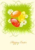2 ζωηρόχρωμα αυγά Πάσχας ελεύθερη απεικόνιση δικαιώματος
