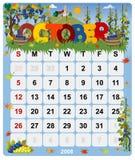 2 ημερολόγιο μηνιαίος Οκτώβριος Στοκ Φωτογραφίες