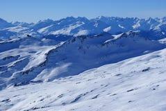 2 κάνοντας σκι Ελβετία Στοκ Εικόνες