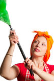 2 καθαρίζοντας γυναίκα Στοκ Εικόνες