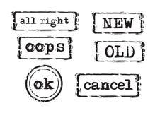 2 καθορισμένα γραμματόσημα απεικόνιση αποθεμάτων