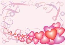 2 καρδιές nacreous Στοκ Εικόνα