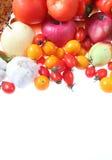 2 καρπούς που τίθενται τα λαχανικά Στοκ Εικόνα
